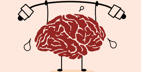 A brain lifting weights